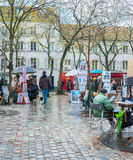Place du Tertre Stock Photography