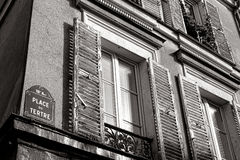 Place du Tertre Sign蒙马特在巴黎法国 库存照片