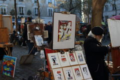 Place du Tetre Image stock
