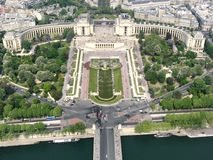 Place du Trocadero Royalty Free Stock Photography
