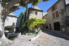 Place du Vieux-Marche, Vaison-La-Romaine,Vancluse, in Provence, Royalty Free Stock Images