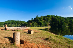 The place for encamp at Pang Aung Stock Images