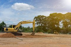 Place and equipment for construction stock image