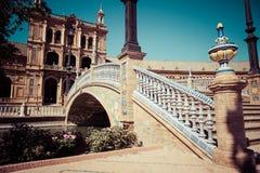 Place espagnole (Plaza de Espana) à Séville, Espagne Photo libre de droits