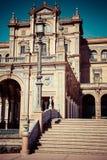 Place espagnole (Plaza de Espana) à Séville, Espagne Photographie stock libre de droits