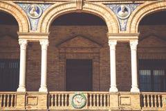 Place espagnole (Plaza de Espana) à Séville, Espagne Image libre de droits
