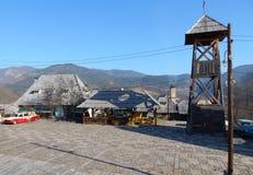 Place et belltower en bois Photographie stock libre de droits