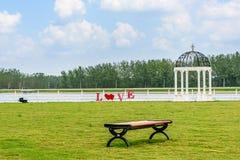 Place et ciel d'amour Photo libre de droits