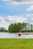 Place et ciel d'amour Photographie stock libre de droits