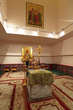 Place of execution of Emperor Nicholas II. YEKATERINBURG, RUSSIA, SEP 24, 2013: Church on Blood in Honour of All Saints Resplendent in the Russian Land - place Royalty Free Stock Photos