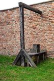 place of execution with medieval gallows Royalty Free Stock Images