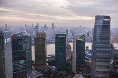 Place financière de Changhaï Bund dans Pudong Photographie stock