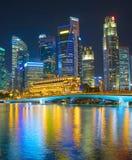 Place financière du centre de Singapour Images libres de droits