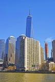 Place financière du monde à la batterie Park City du Lower Manhattan Images stock