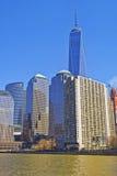 Place financière du monde au Lower Manhattan de Park City de batterie Image stock