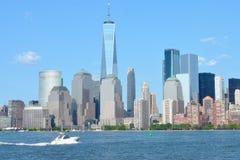 Place financière du monde et parc de batterie, NYC Photos libres de droits