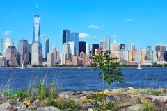 Place financière du monde et parc de batterie, NYC Photo stock