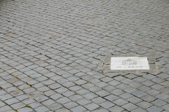 Place of First Attempted Assassination of Pope John Paul II - Vatican City Stock Photo