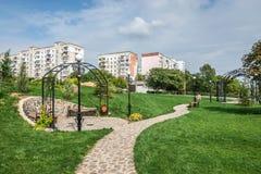 Place géorgienne dans la ville de Yuzhny, Ukraine photos libres de droits