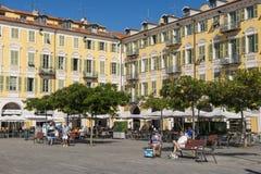 Place Garibaldi in Nice, France stock photo