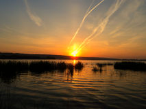 A place for good fishing. Nature evening spring nature Royalty Free Stock Photography