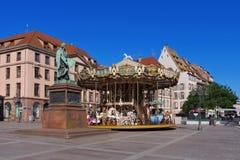 Place Gutenberg in Strasbourg Stock Photos