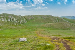 Place for hiking on a Chatyr-Dah mountainous massif in Crimea Stock Photography