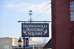 Place historique de Brownsville Photo libre de droits