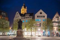 Place historique du marché d'Iéna la nuit photographie stock