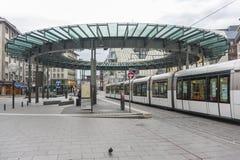 Place Homme de Fer在史特拉斯堡,法国 库存照片