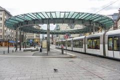 Place Homme de Fer在史特拉斯堡,法国 图库摄影