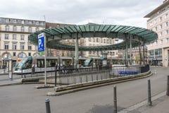 Place Homme de Fer在史特拉斯堡,法国 免版税库存照片