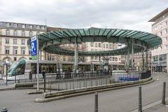Place Homme de Fer in Straßburg, Frankreich Stockbild