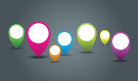 Place icons Stock Image