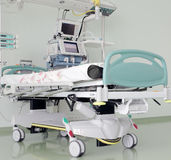 Place in icu, ready to receive patients. Royalty Free Stock Photos