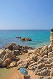 Place idyllique sur le brava de côte Images libres de droits
