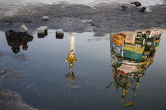 Place indépendante (Maidan) dans Kyiv, Ukraine Images stock