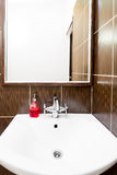 Place for an inscription above the sink in bathroom Royalty Free Stock Photography