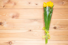 A place for an inscription on the left of the yellow bouquet Royalty Free Stock Photography