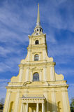 Place of interest of the city of St. Petersburg cathedral of Fortress of apostles Pyotr and Pavel Royalty Free Stock Photos