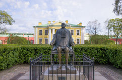 Place of interest of the city of St. Petersburg Petr and Pavel`s engineering house and sculpture Peter I. Place of interest of the city  St. Petersburg Petr and Royalty Free Stock Images