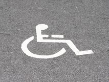 Place for invalid persons Stock Image