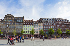 Place Kleber, the central square of Strasbourg, France Royalty Free Stock Image