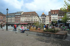 Place Kléber in Strasbourg Royalty Free Stock Photos
