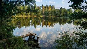 Place on the lake, lured for fishing stock photography