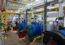 Place in a large industrial boiler room Royalty Free Stock Photos