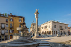 Place Liberta with Loggia of Leon in Udine Royalty Free Stock Images