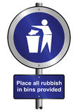 Place litter in bins Stock Images