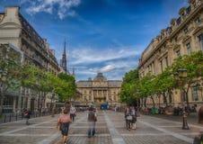 Place Louis L�pine and Palace of Justice at the Ile de la Cit� at Paris Royalty Free Stock Photo