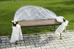 Place for in love. A bench in park for in love Stock Photos
